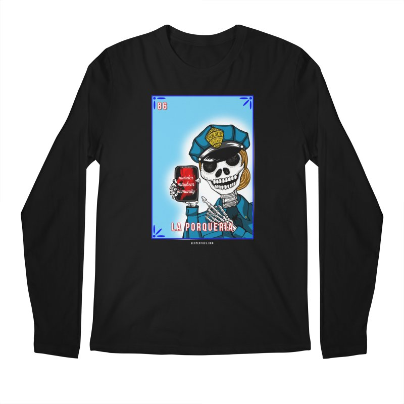 86 LA PORQUERIA / 86 THE POLICE Men's Regular Longsleeve T-Shirt by serpenthes's Artist Shop
