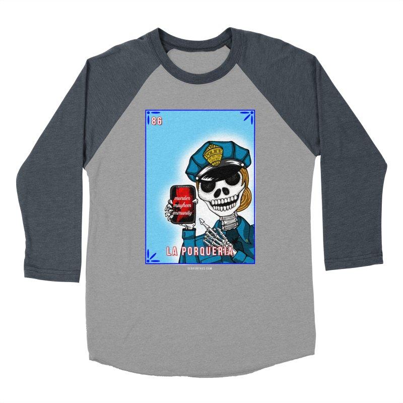 86 LA PORQUERIA / 86 THE POLICE Men's Baseball Triblend Longsleeve T-Shirt by serpenthes's Artist Shop