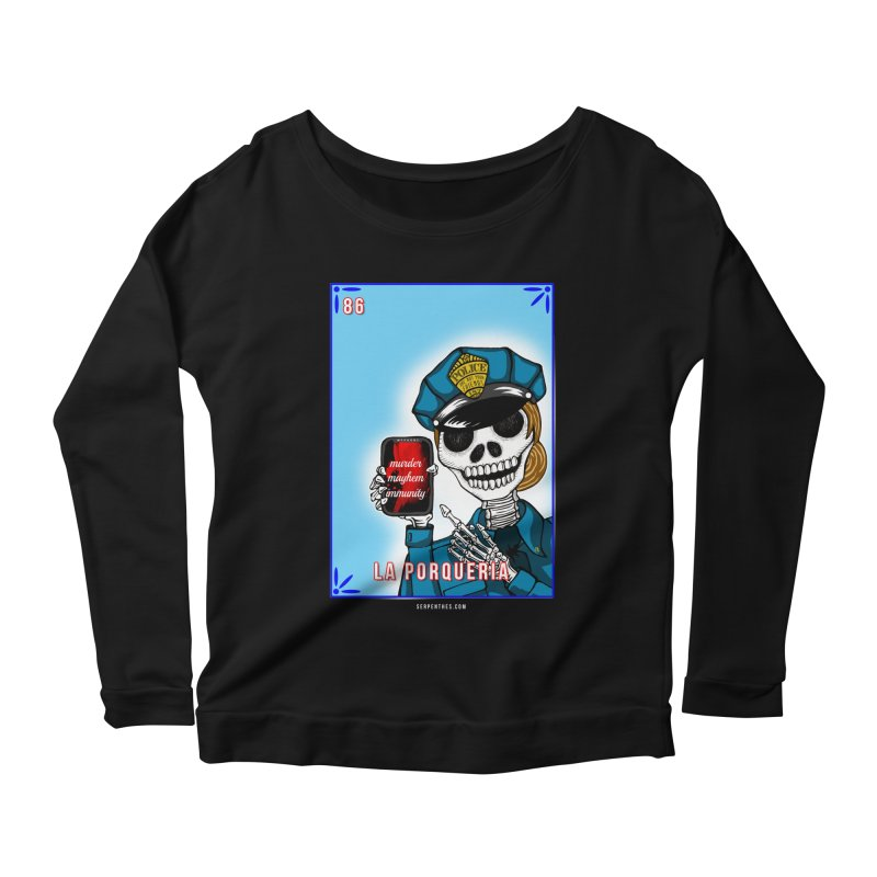 86 LA PORQUERIA / 86 THE POLICE Women's Scoop Neck Longsleeve T-Shirt by serpenthes's Artist Shop