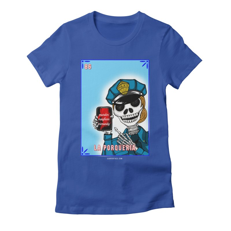 86 LA PORQUERIA / 86 THE POLICE Women's Fitted T-Shirt by serpenthes's Artist Shop