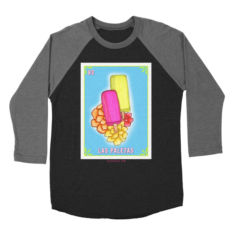 # 83 LAS PALETAS / Loteria Serpenthes Tile 83 Men's Baseball Triblend Longsleeve T-Shirt by serpenthes's Artist Shop