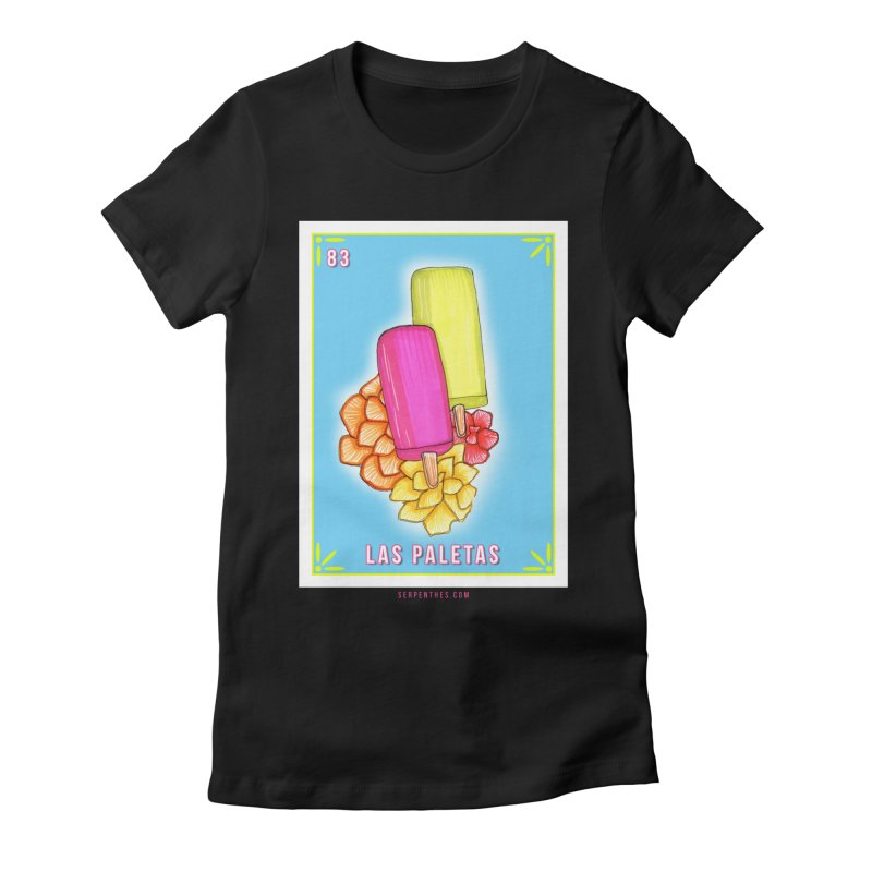 # 83 LAS PALETAS / Loteria Serpenthes Tile 83 Women's Fitted T-Shirt by serpenthes's Artist Shop