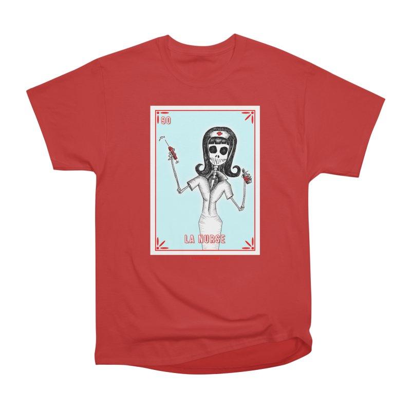 #90 LA NURSE / Loteria Serpenthes Tile Men's Heavyweight T-Shirt by serpenthes's Artist Shop