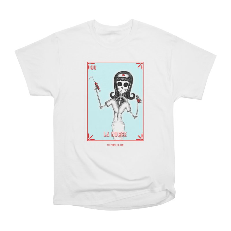 #90 LA NURSE / Loteria Serpenthes Tile Women's Heavyweight Unisex T-Shirt by serpenthes's Artist Shop