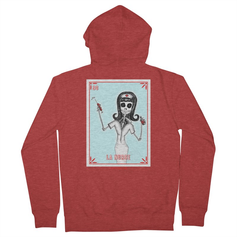 #90 LA NURSE / Loteria Serpenthes Tile Women's French Terry Zip-Up Hoody by serpenthes's Artist Shop