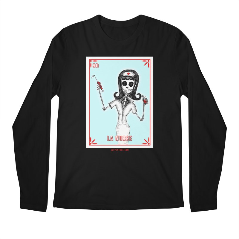 #90 LA NURSE / Loteria Serpenthes Tile Men's Regular Longsleeve T-Shirt by serpenthes's Artist Shop