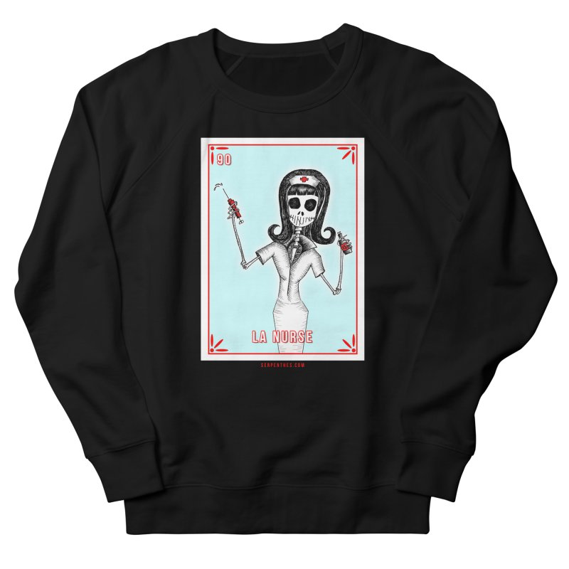 #90 LA NURSE / Loteria Serpenthes Tile Women's Sweatshirt by serpenthes's Artist Shop