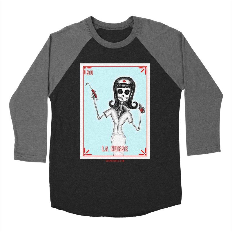 #90 LA NURSE / Loteria Serpenthes Tile Women's Baseball Triblend Longsleeve T-Shirt by serpenthes's Artist Shop