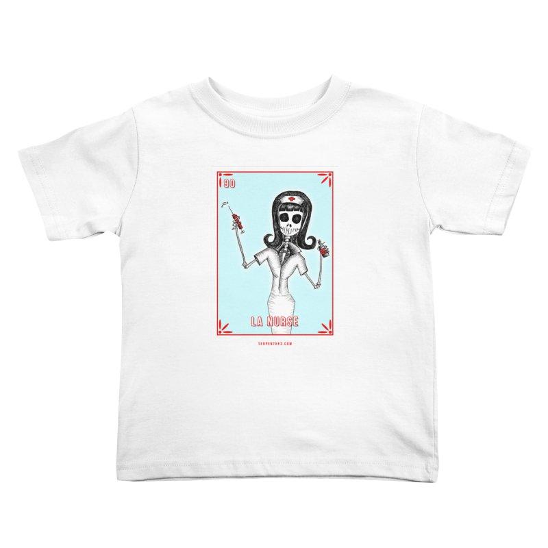 #90 LA NURSE / Loteria Serpenthes Tile Kids Toddler T-Shirt by serpenthes's Artist Shop