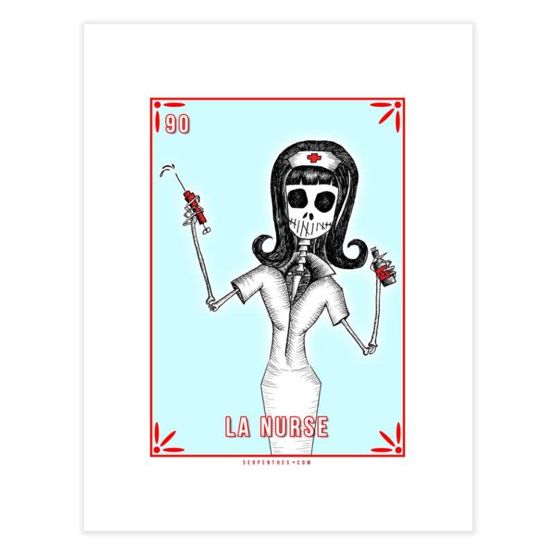 #90 LA NURSE / Loteria Serpenthes Tile Home Fine Art Print by serpenthes's Artist Shop