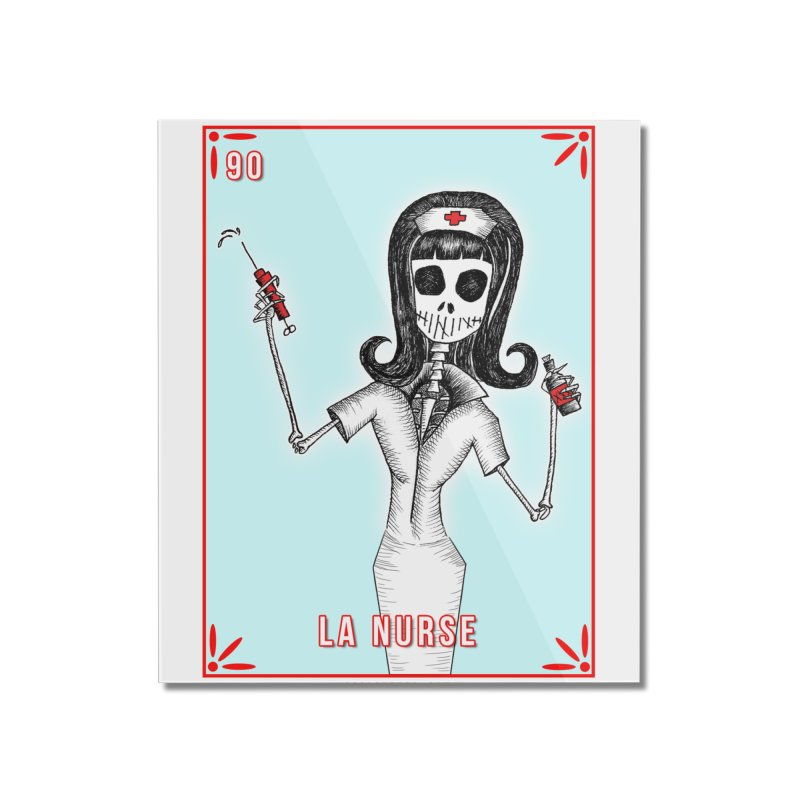 #90 LA NURSE / Loteria Serpenthes Tile Home Mounted Acrylic Print by serpenthes's Artist Shop