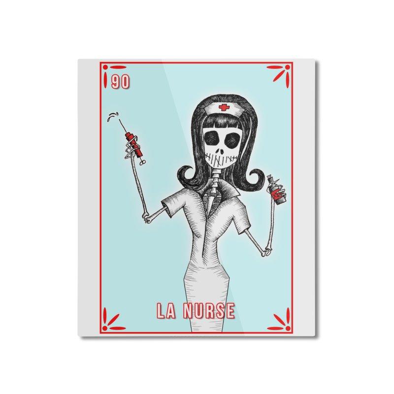 #90 LA NURSE / Loteria Serpenthes Tile Home Mounted Aluminum Print by serpenthes's Artist Shop