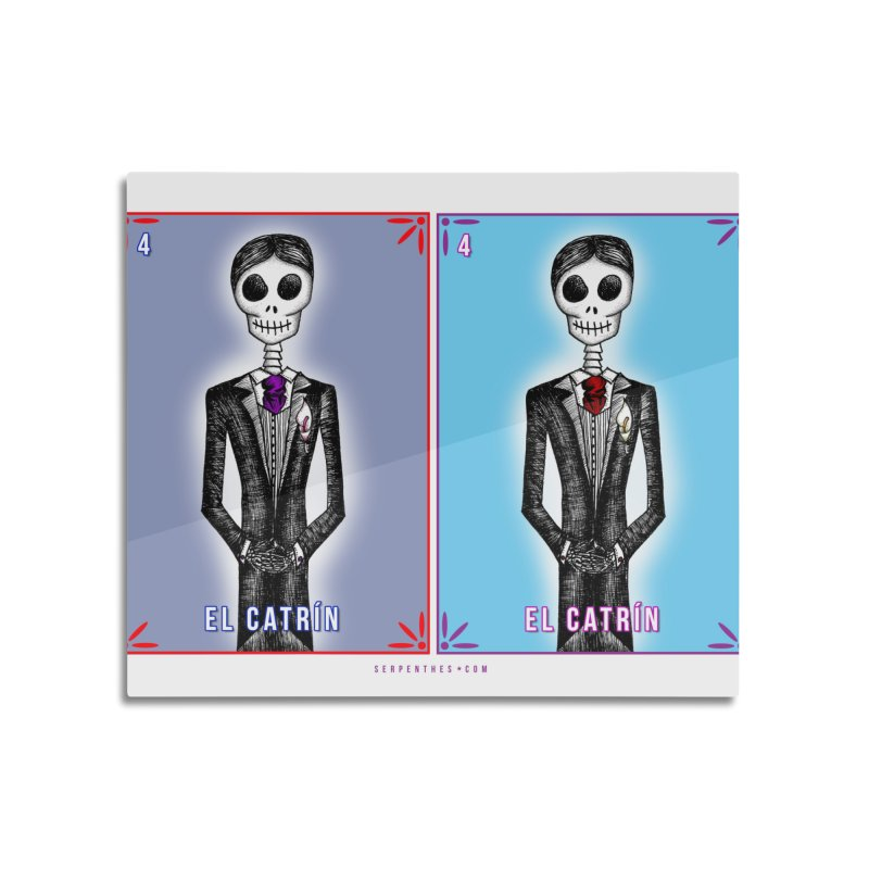 LOS CATRINES / Groom and Groom Loteria Cards Home Mounted Aluminum Print by serpenthes's Artist Shop