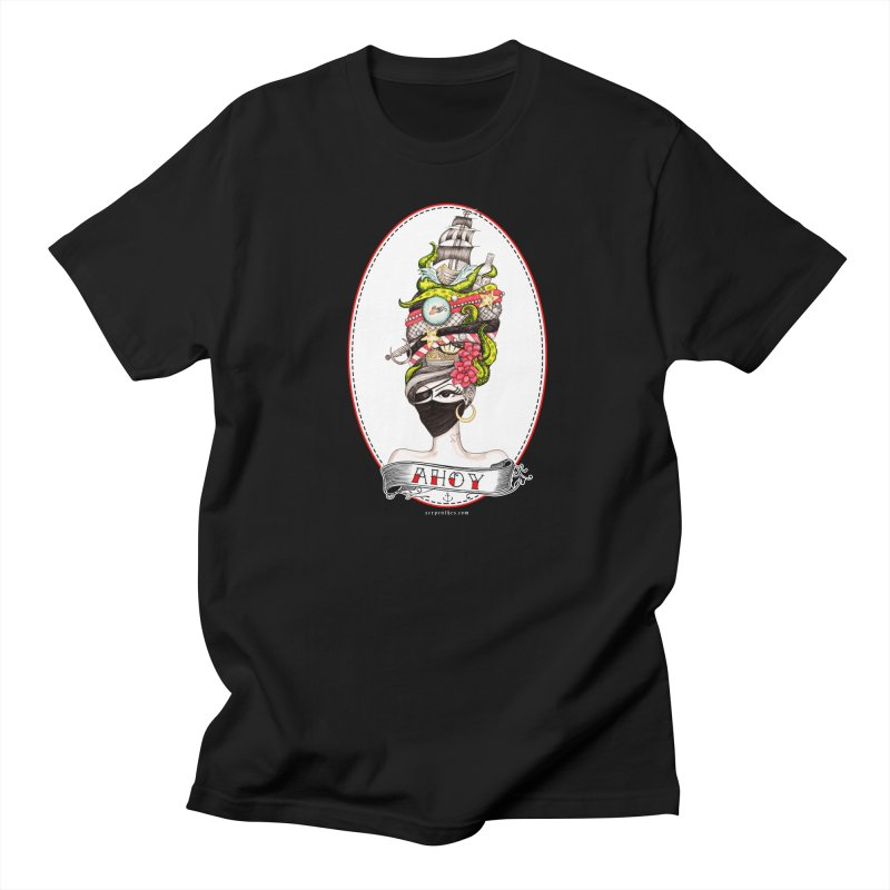 PIRATE QUEEN Men's Regular T-Shirt by serpenthes's Artist Shop