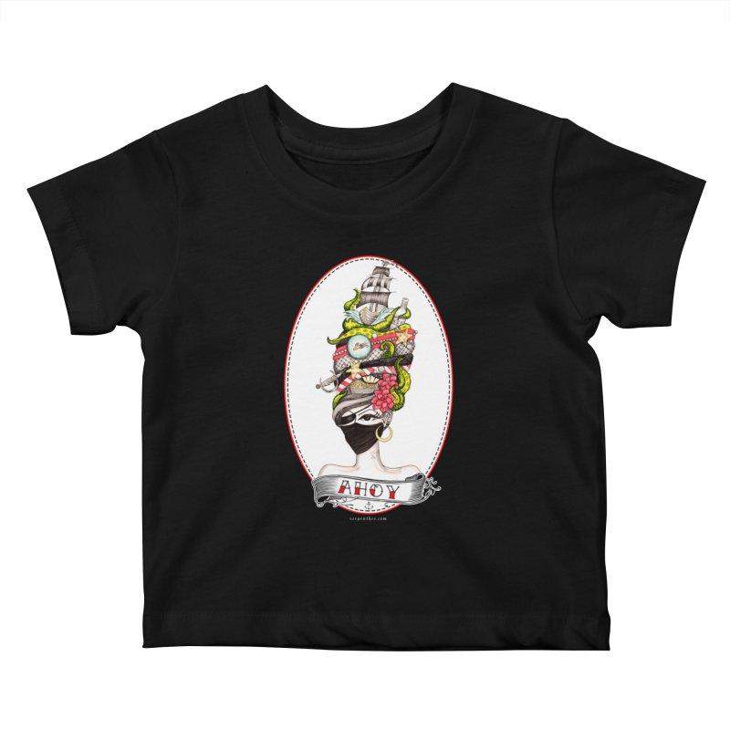 PIRATE QUEEN Kids Baby T-Shirt by serpenthes's Artist Shop