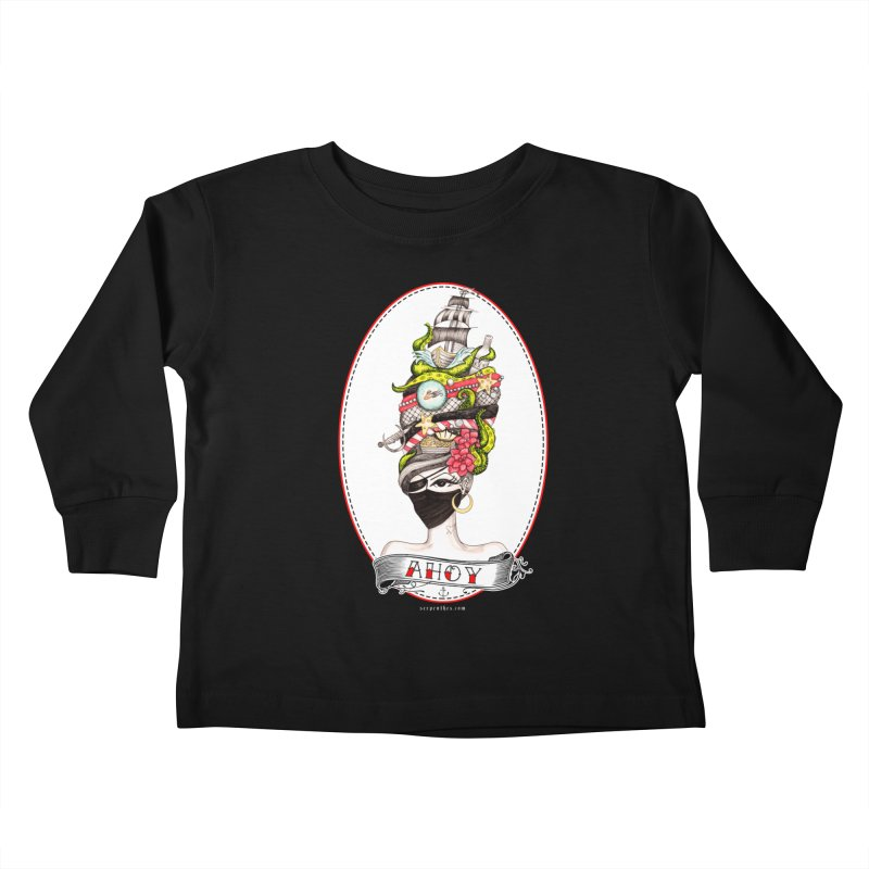 PIRATE QUEEN Kids Toddler Longsleeve T-Shirt by serpenthes's Artist Shop