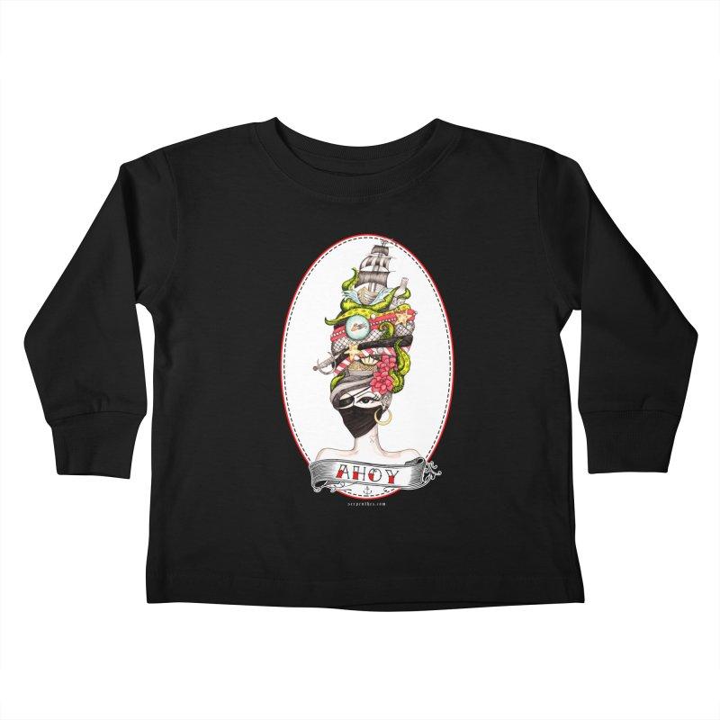 PIRATE QUEEN Kids Toddler Longsleeve T-Shirt by serpenthes's Artist Shop