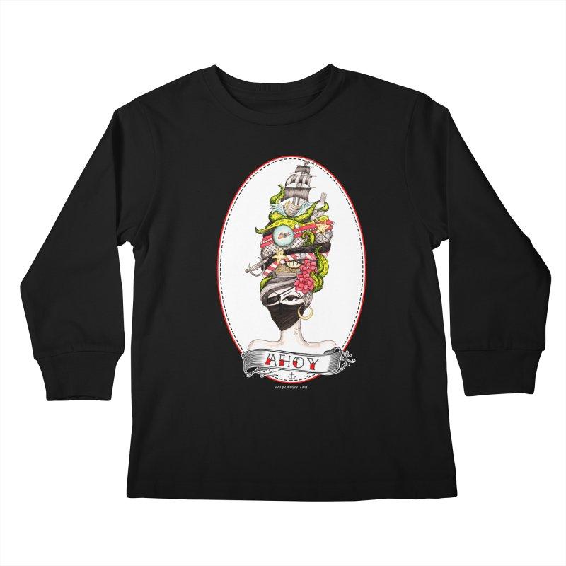 PIRATE QUEEN Kids Longsleeve T-Shirt by serpenthes's Artist Shop