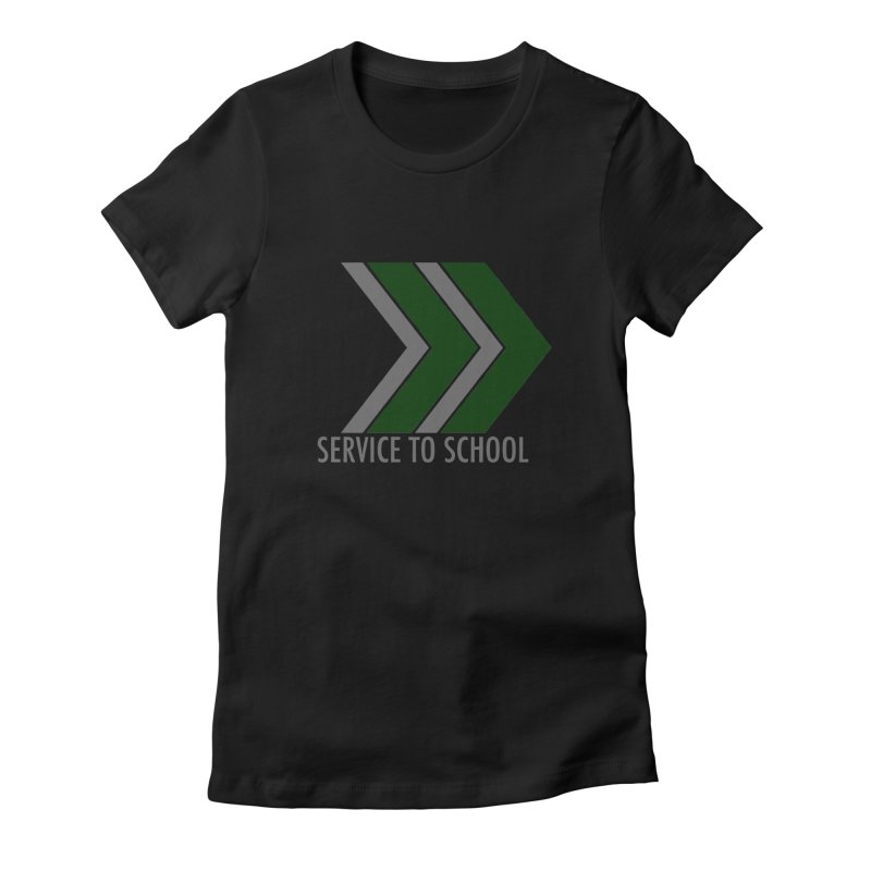 S2S in Women's Fitted T-Shirt Black by Service to School Swag Shop