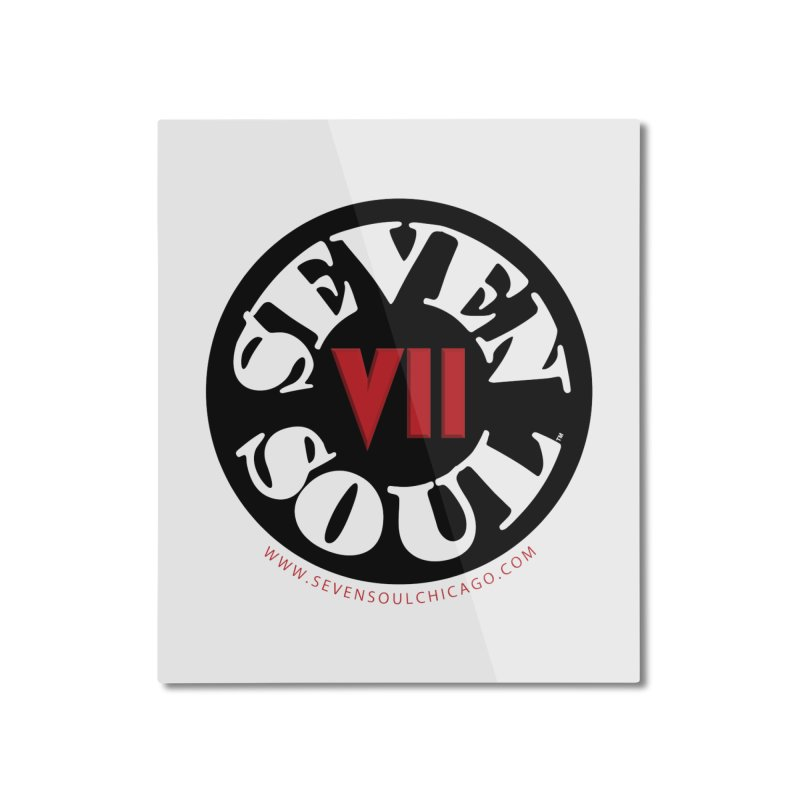 SS Retro Home Mounted Aluminum Print by Seven Soul Shop
