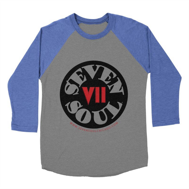 SS Retro Men's Baseball Triblend Longsleeve T-Shirt by Seven Soul Shop