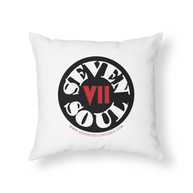 SS Retro Home Throw Pillow by Seven Soul Shop