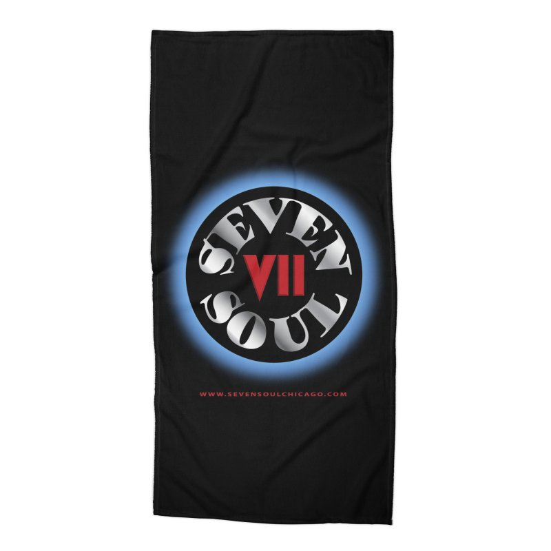 Classic Logo - Blue glow Accessories Beach Towel by Seven Soul Shop