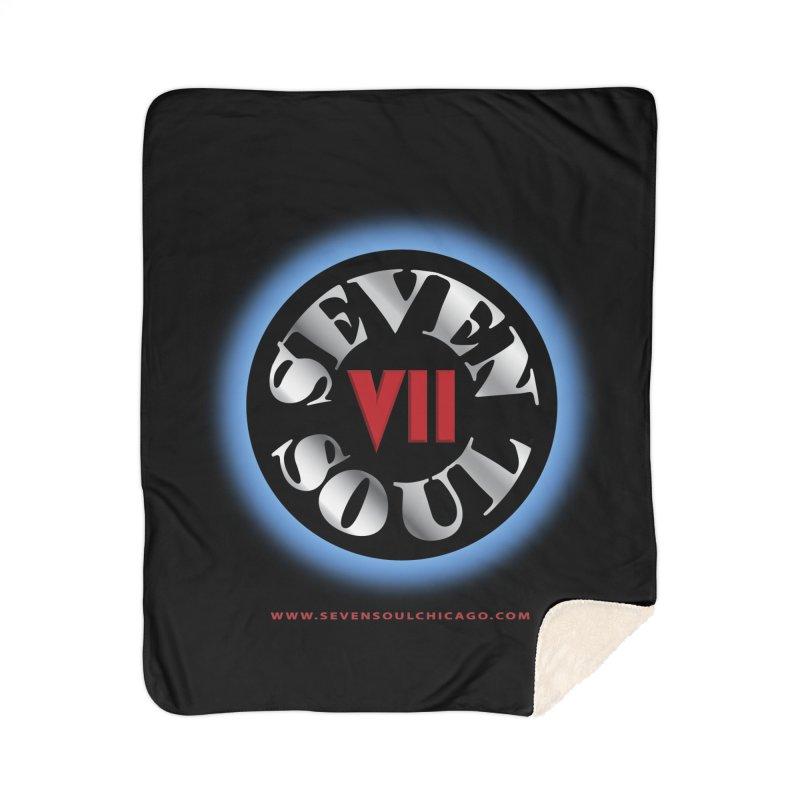 Classic Logo - Blue glow Home Blanket by Seven Soul Shop