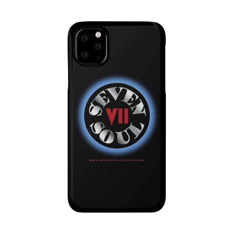 Classic Logo - Blue glow Accessories Phone Case by Seven Soul Shop