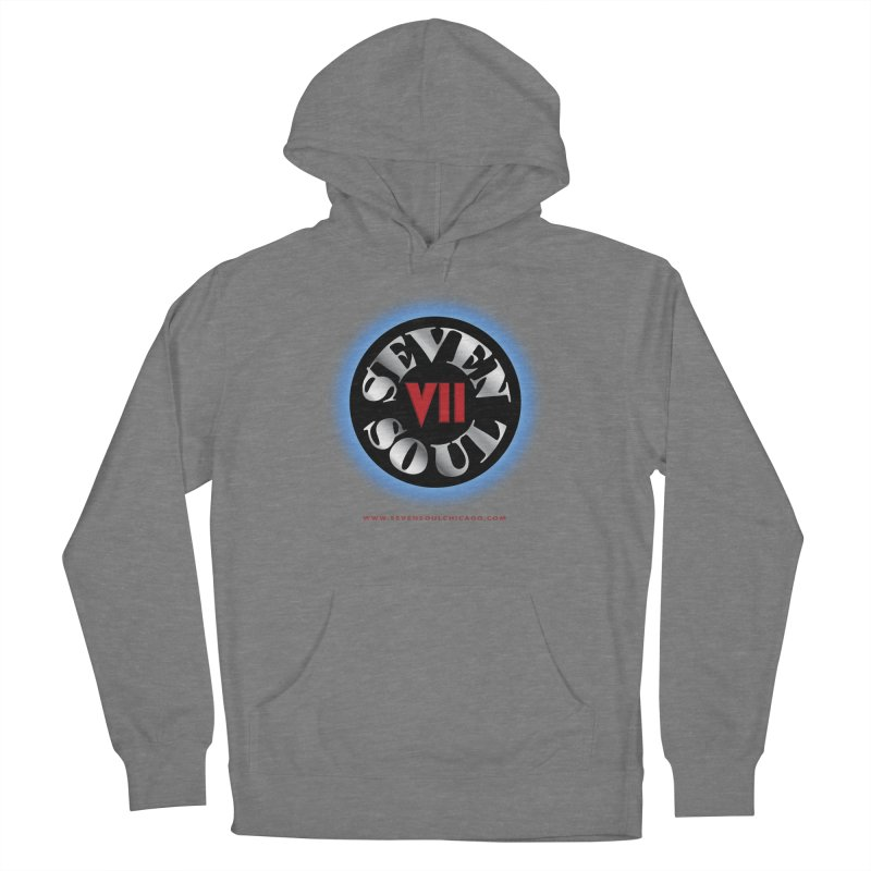 Classic Logo - Blue glow Women's French Terry Pullover Hoody by Seven Soul Shop