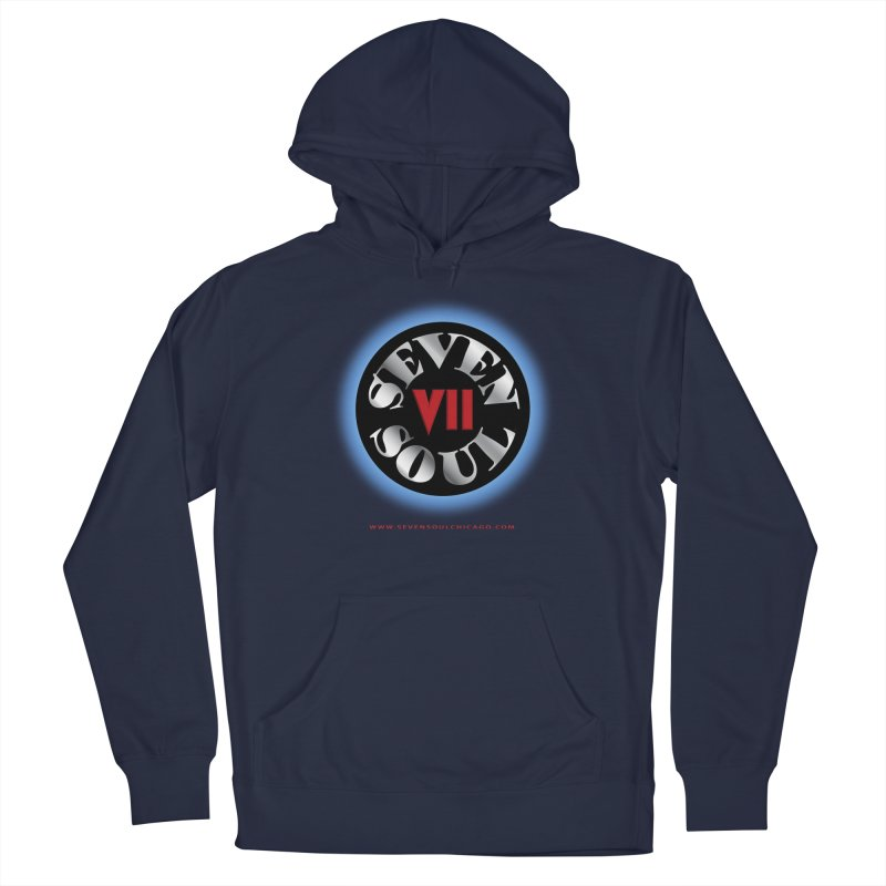 Classic Logo - Blue glow Men's Pullover Hoody by Seven Soul Shop