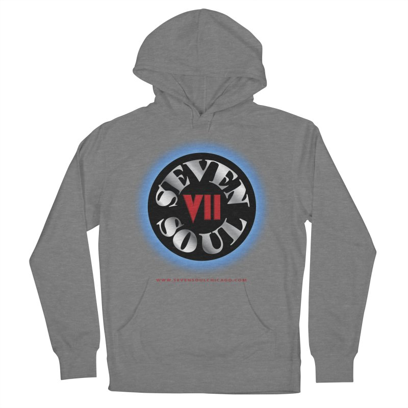 Classic Logo - Blue glow Men's French Terry Pullover Hoody by Seven Soul Shop
