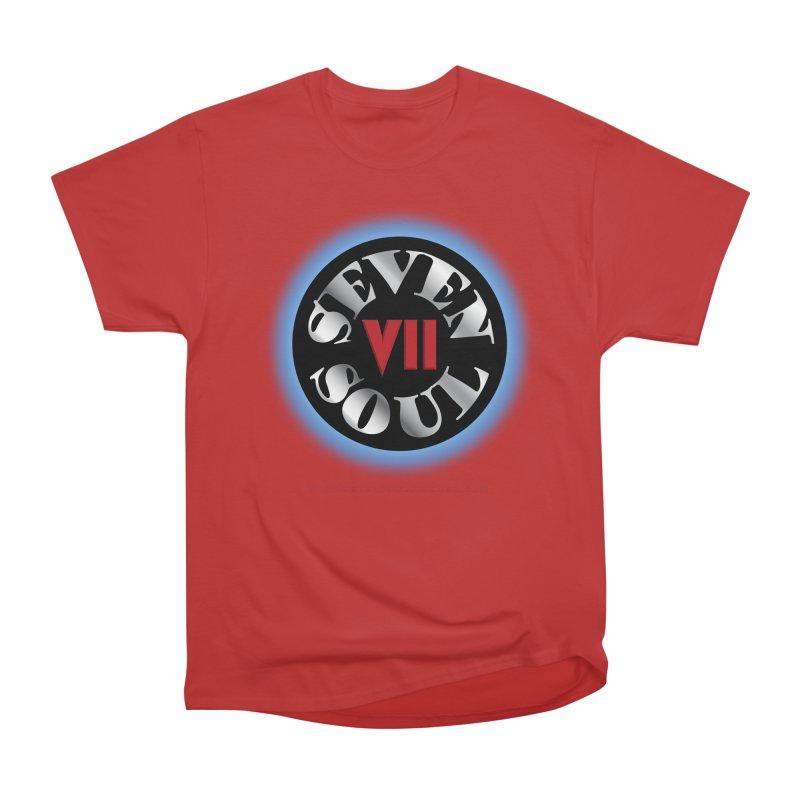 Classic Logo - Blue glow Men's Heavyweight T-Shirt by Seven Soul Shop
