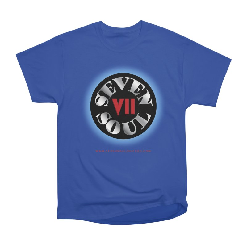 Classic Logo - Blue glow Men's T-Shirt by Seven Soul Shop