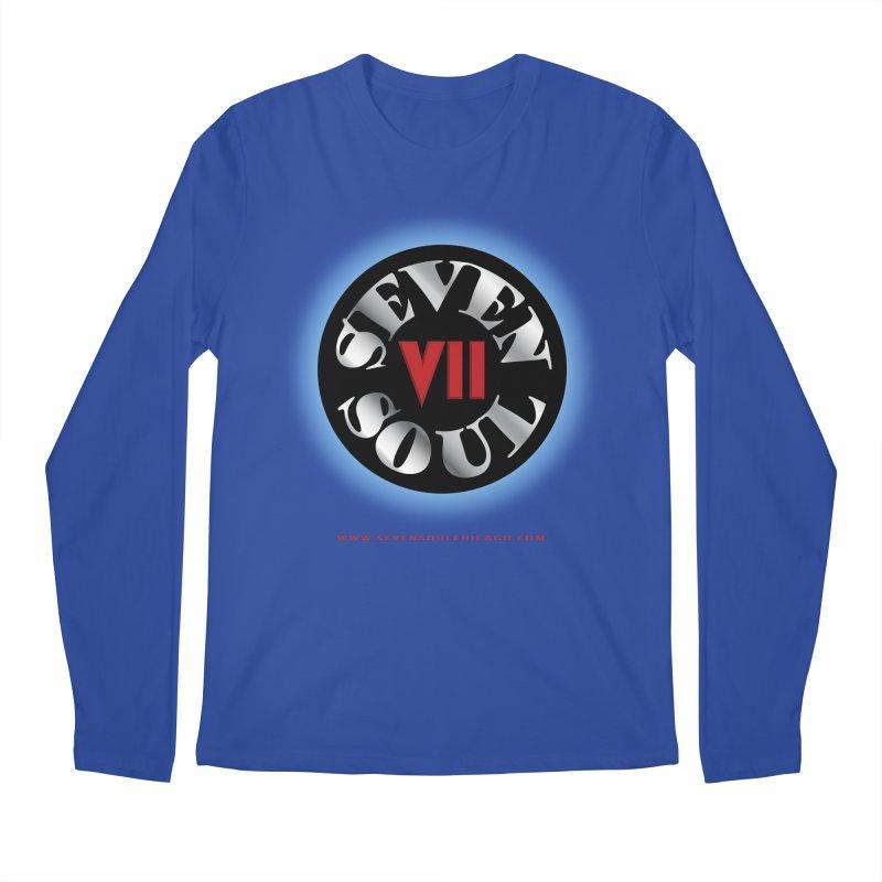 Classic Logo - Blue glow Men's Regular Longsleeve T-Shirt by Seven Soul Shop