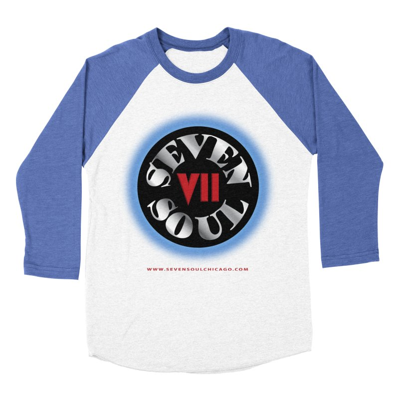 Classic Logo - Blue glow Women's Baseball Triblend Longsleeve T-Shirt by Seven Soul Shop