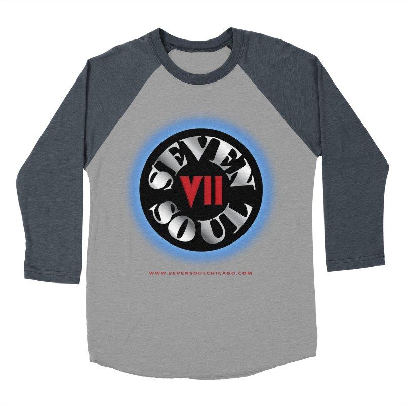 Classic Logo - Blue glow Men's Baseball Triblend Longsleeve T-Shirt by Seven Soul Shop