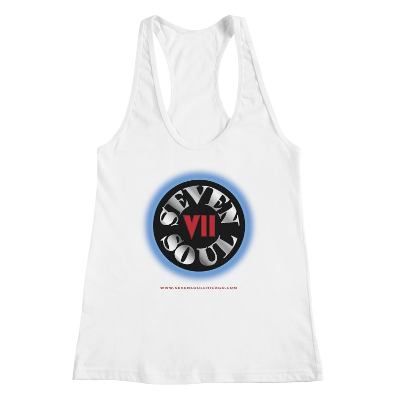 Classic Logo - Blue glow Women's Racerback Tank by Seven Soul Shop