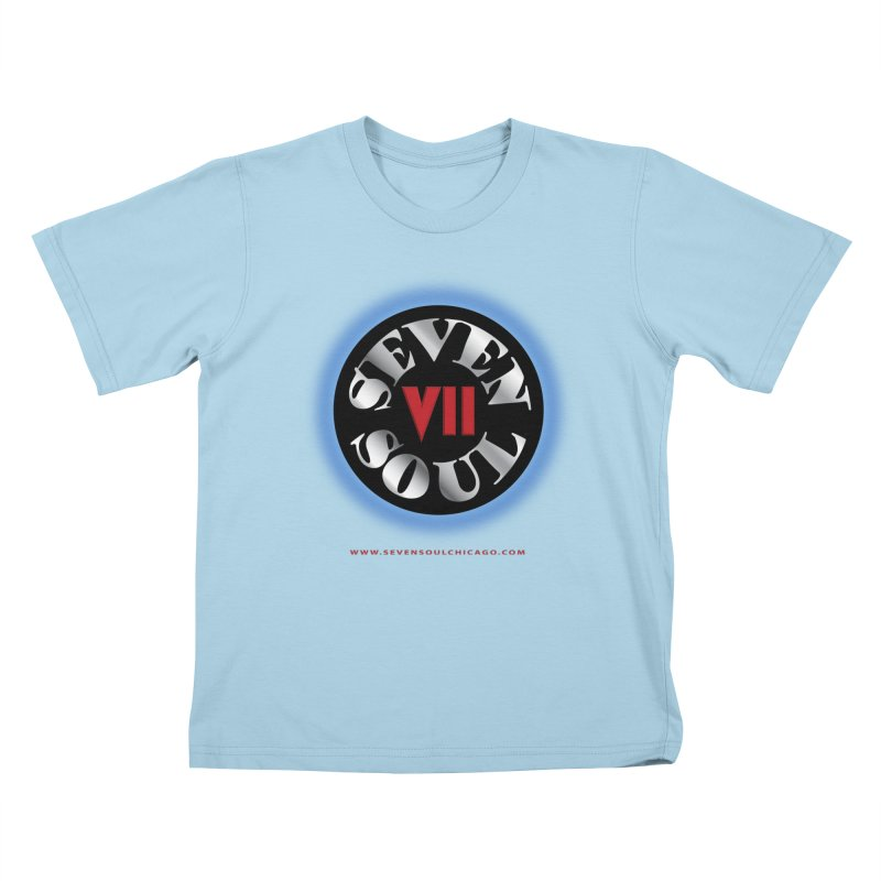 Classic Logo - Blue glow Kids T-Shirt by Seven Soul Shop