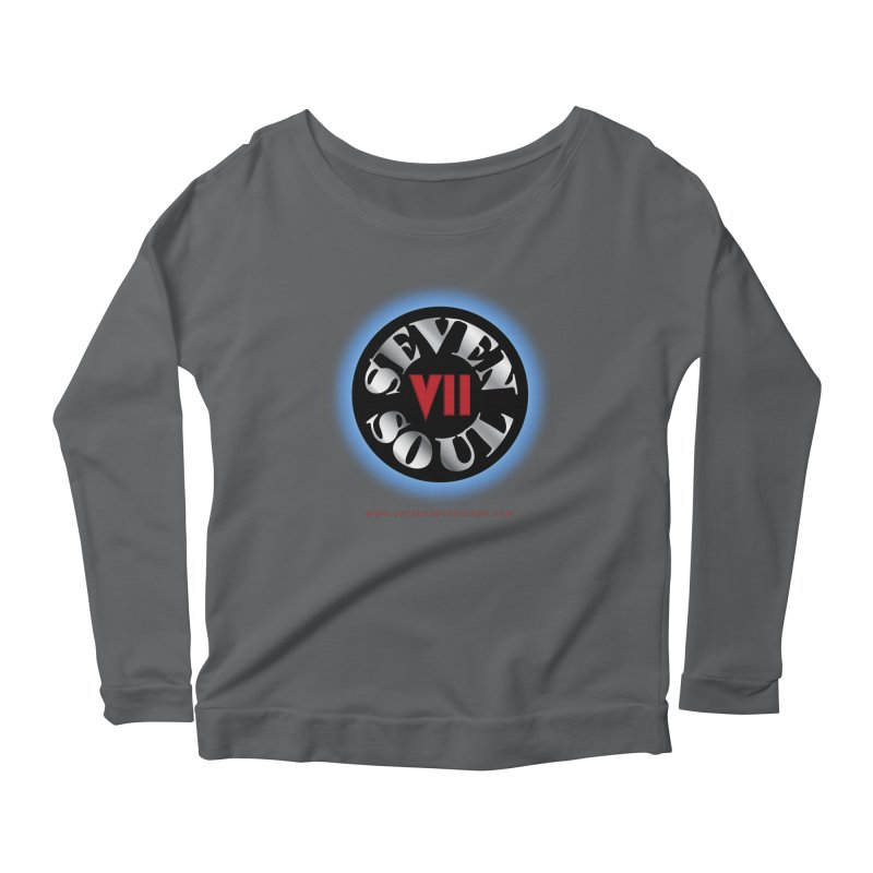 Classic Logo - Blue glow Women's Scoop Neck Longsleeve T-Shirt by Seven Soul Shop
