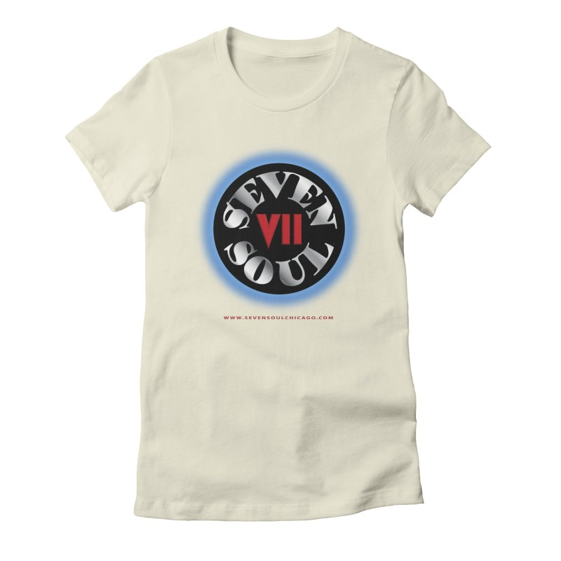 Classic Logo - Blue glow Women's Fitted T-Shirt by Seven Soul Shop