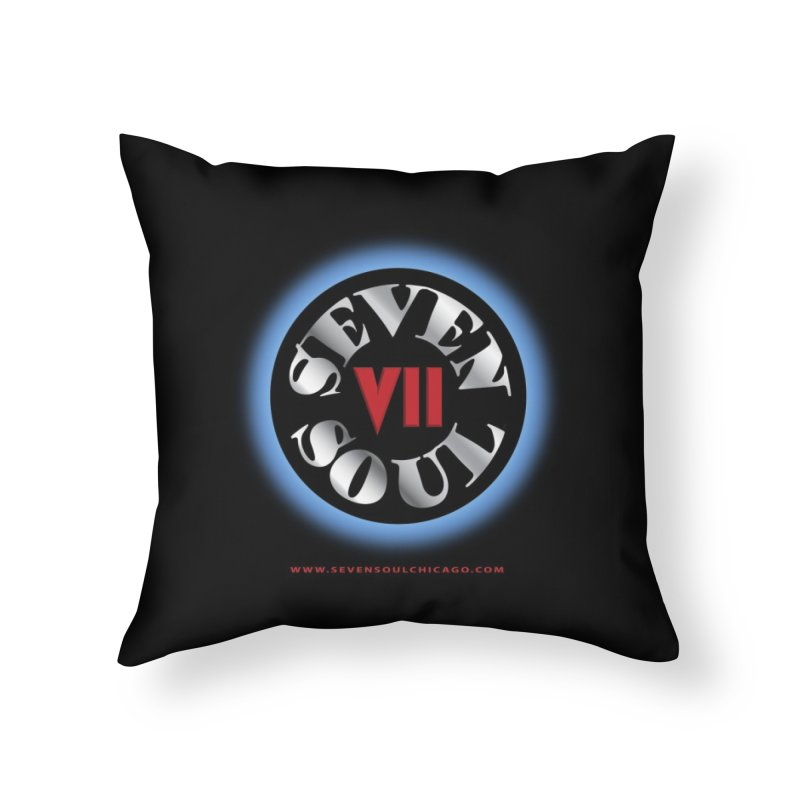 Classic Logo - Blue glow Home Throw Pillow by Seven Soul Shop