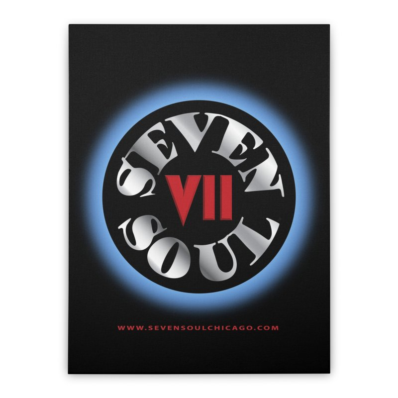 Classic Logo - Blue glow Home Stretched Canvas by Seven Soul Shop