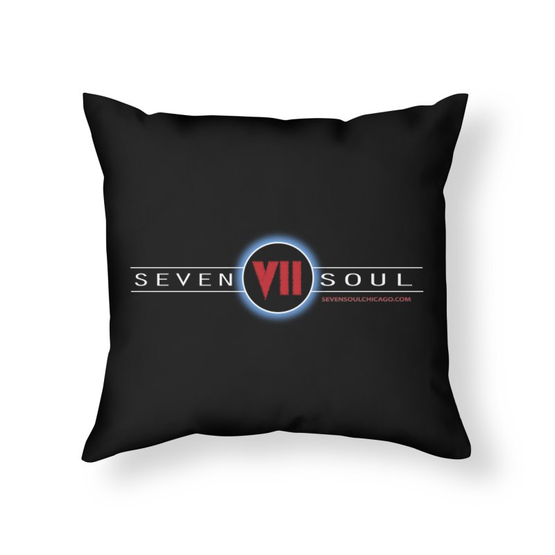 2018 Design - dark background Home Throw Pillow by Seven Soul Shop