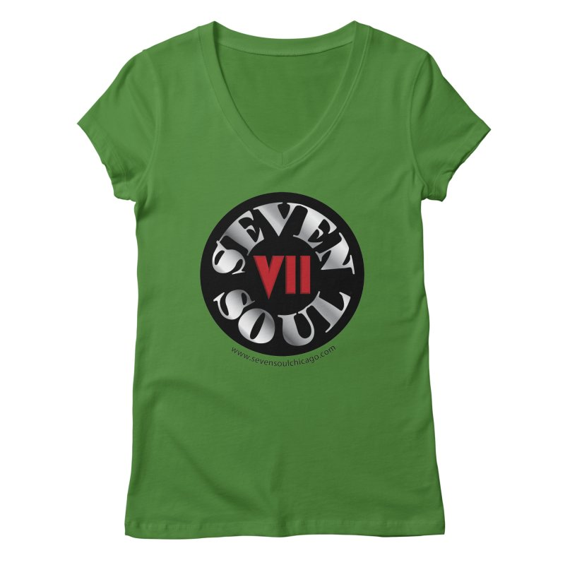 Classic Logo Women's Regular V-Neck by Seven Soul Shop