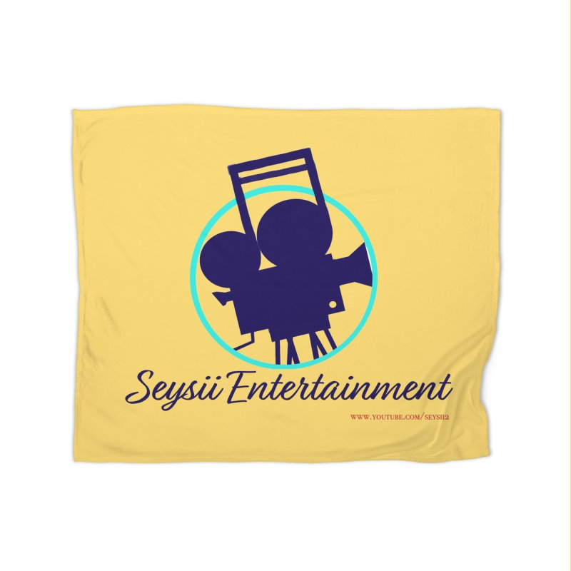 Seysii Entertainment Logo Home Fleece Blanket Blanket by I'm Just Seyin' Shoppe