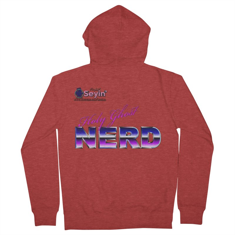 Holy Ghost Nerd Men's French Terry Zip-Up Hoody by I'm Just Seyin' Shoppe