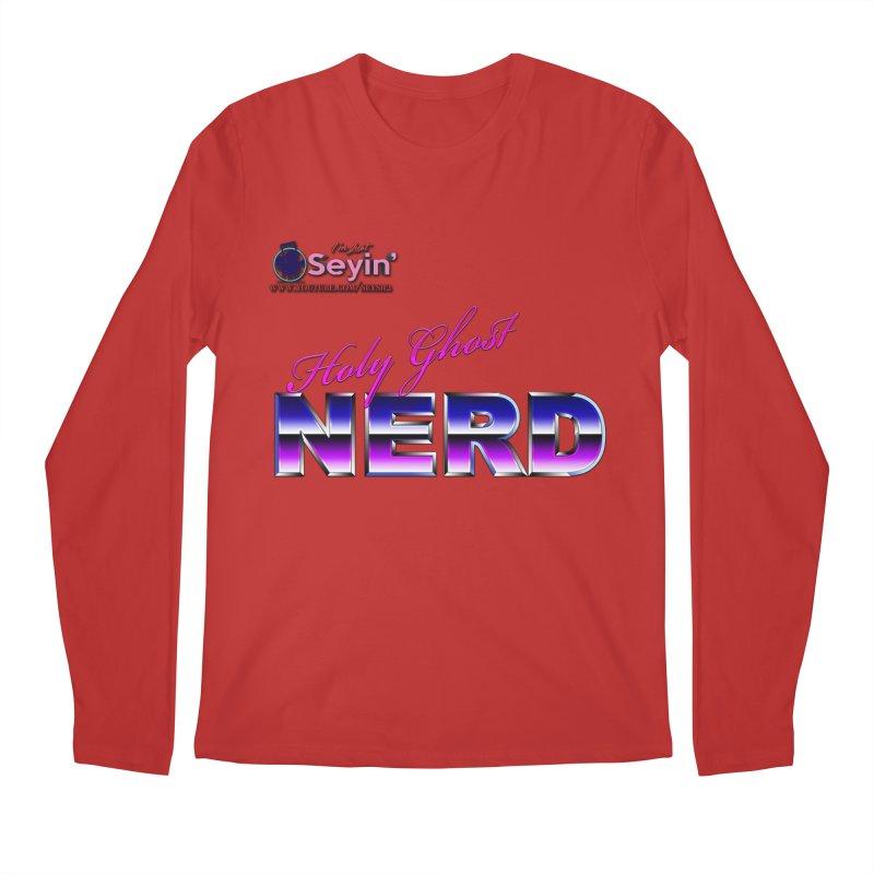 Holy Ghost Nerd Men's Regular Longsleeve T-Shirt by I'm Just Seyin' Shoppe