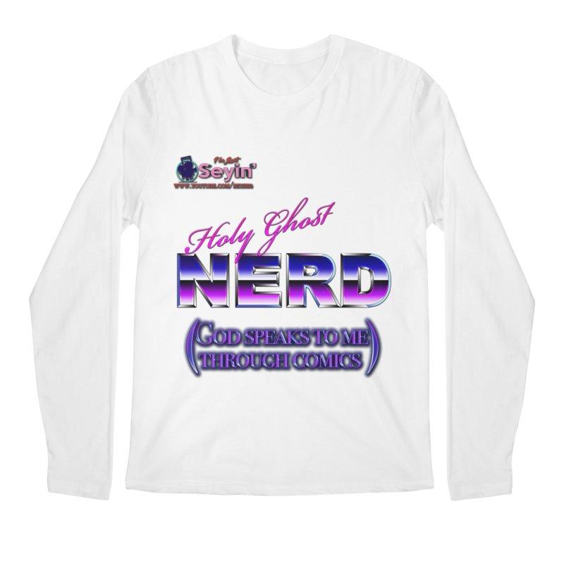Comic Men's Regular Longsleeve T-Shirt by I'm Just Seyin' Shoppe