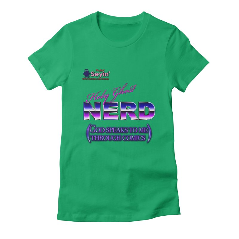 Comic Women's Fitted T-Shirt by I'm Just Seyin' Shoppe